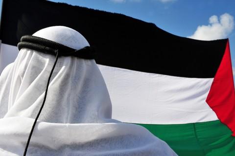 ערבי על רקע דגל אש